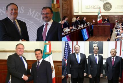 GALERÍA |  Tres secretarios y un asesor de EU en México