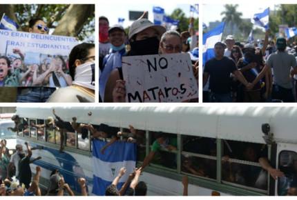 Liberan a estudiantes de iglesia cercada por polícias en Nicaragua