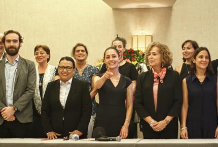 Sheinbaum presenta a gabinete y ajustes al gobierno de la CDMX