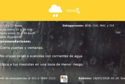 Se registran encharcamientos e inundaciones por lluvias en CDMX