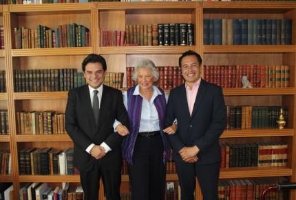 Olga Sánchez y Cuitláhuac García analizan caso de fiscal