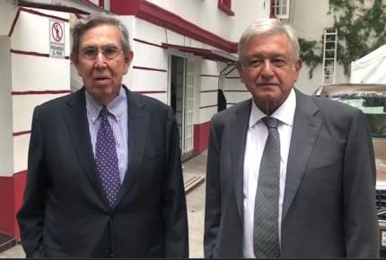 """""""Ya está con nosotros"""", dice AMLO sobre Cuauhtémoc Cárdenas"""