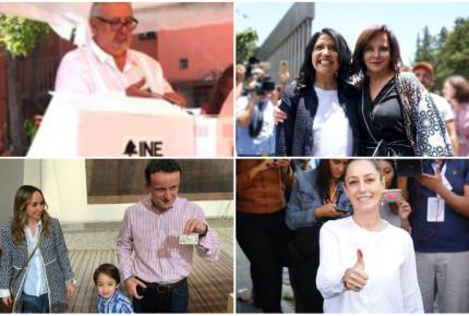 Candidatos a la Jefatura de Gobierno de la CDMX acuden a las urnas