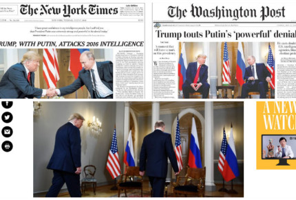 """Medios de EU 'crucifican' a Donald Trump por """"traición"""" frente a Putin"""