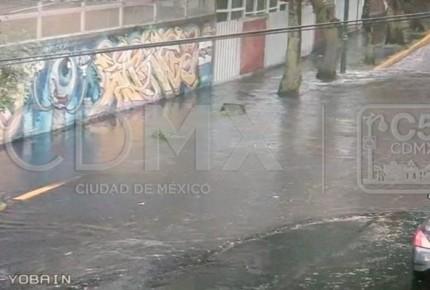Lluvias dejan inundaciones en Tlalpan