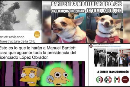 Manuel Bartlett aún no llega la CFE y ya 'encendió' los memes