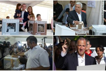 Así salieron a votar AMLO, Meade, Anaya y El Bronco