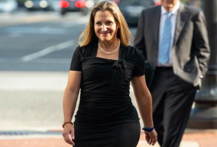 Negociaciones entre EU y Canadá por TLCAN toman un ritmo intenso: Freeland