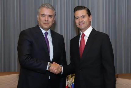 Peña se reúne con Iván Duque, presidente electo de Colombia