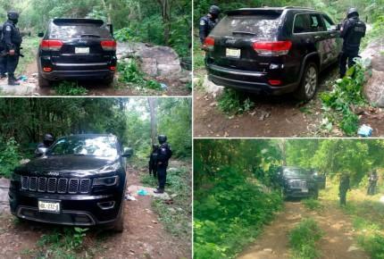 Vehículos, armas y droga aseguran en Costa Grande de Guerrero; repelen ataque