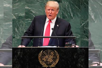 Presume Trump su gobierno en la ONU y líderes mundiales se ríen