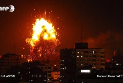 Israel bombardea Gaza en respuesta a lanzamiento de cohetes palestinos