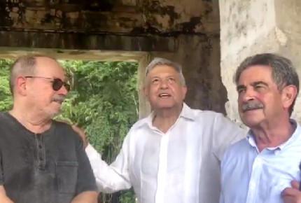 AMLO recarga 'buenas vibras' en Palenque, acompañado de Silvio