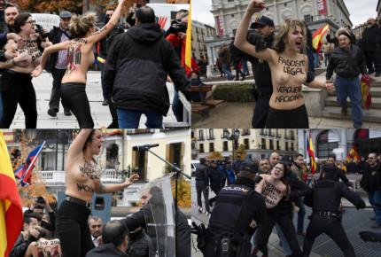 Activistas de Femen irrumpen acto conmemorativo por muerte de Franco