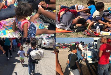 Ríen, corren y juegan, dos mil niños en la Caravana migrante