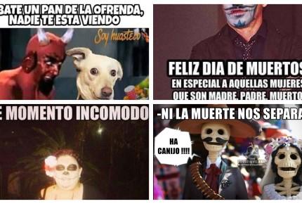 Con humor e ingenio, los memes atraparon al Día de Muertos