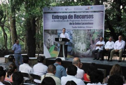 Chiapas destaca labor de 27 mil guardianes de la Selva Lacandona y la Sierra Madre