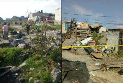 Dos personas fallecen por explosión en Tultepec