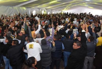 Entre reclamos, PRD aprueba reformas a estatutos y elimina tribus