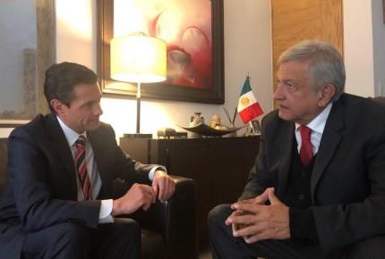 AMLO invita a Peña a su casa para definir toma de protesta