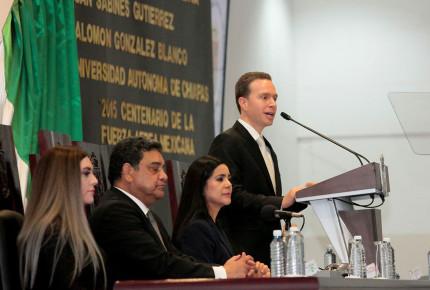 Entrega Velasco Coello su sexto Informe de Gobierno en Chiapas