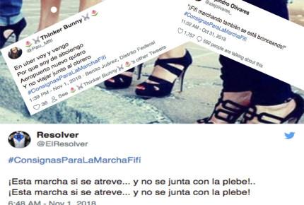 Tuiteros se ponen creativos con las #ConsignasParaLaMarchaFifí