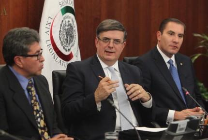 Plan para Centroamérica privilegia inversiones, dice Ebrard al Senado