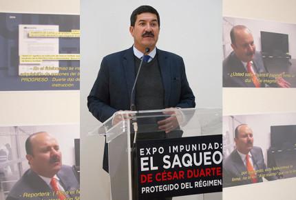 """Exigen suspender """"Expo impunidad"""", por violación a juicio de Duarte"""
