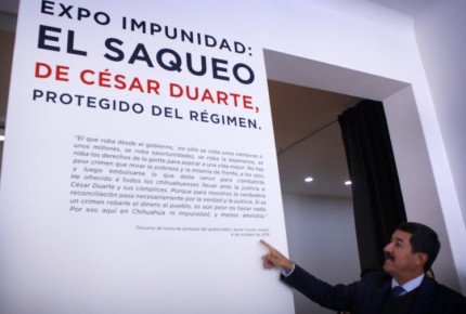 Por orden de juez, Corral debe cerrar 'expo' contra César Duarte