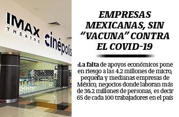 """Empresas mexicanas, sin """"vacuna"""" contra el Covid-19"""