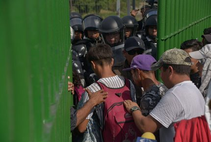 Autoridades controlan ingreso de migrantes en Chiapas