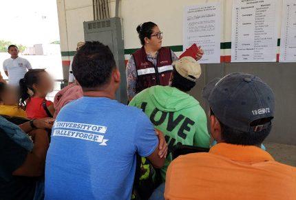 Migrantes rechazan ingreso controlado a México
