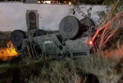 Tamaulipas: camioneta de Sedena vuelca y deja 7 lesionados
