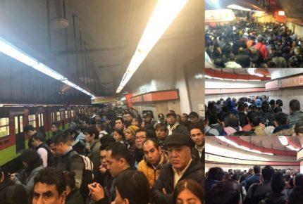 Caótico lunes en la Línea 7 del Metro de CDMX