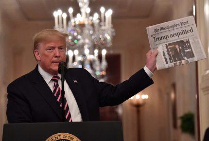 Trump celebra absolución y se lanza contra demócratas