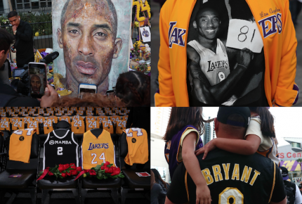Lakers despiden a Kobe Bryant con homenaje