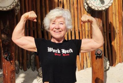 ¡Abuelita fitness! Con 73 años es 'influencer'