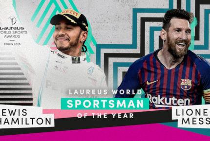 Messi y Hamilton comparten el premio Laureus 2019
