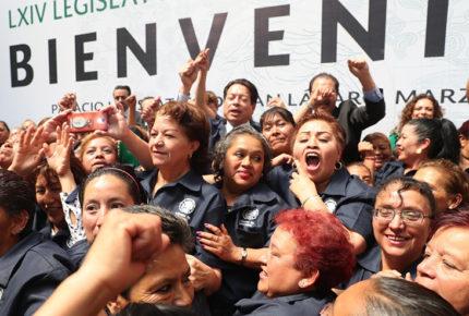 Diputados terminan con 'outsourcing' de trabajadores de limpieza