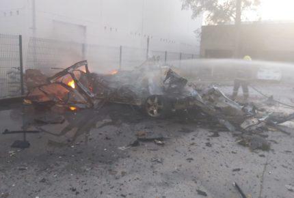 Coche bomba explota cerca de base de la GN en Celaya