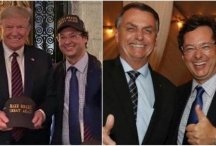 Funcionario brasileño con Covid-19 estuvo con Trump y Bolsonaro