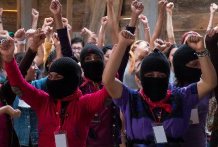 Mujeres zapatistas se suman al paro nacional