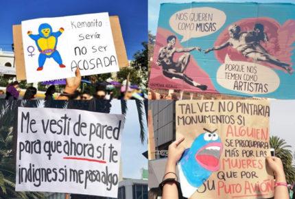 Las mejores pancartas en la protesta del #8M