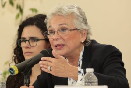 Están enojadas por la violencia, no con el Gobierno: Sánchez Cordero