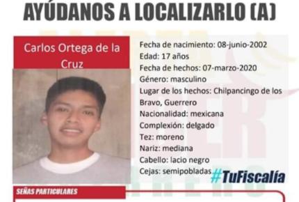 Desaparece hijo del vocero de padres de lo 43 de Ayotzinapa