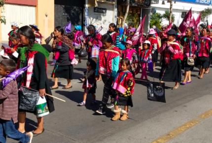 Indígenas y campesinas de Oaxaca exigen respeto a sus derechos