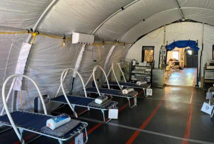 Montan hospital en Matamoros que dará atención a migrantes