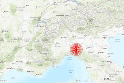 En plena cuarentena un sismo de 4.5 sacude a Italia