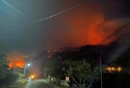Detienen a una persona señalada por provocar incendio en Tepoztlán