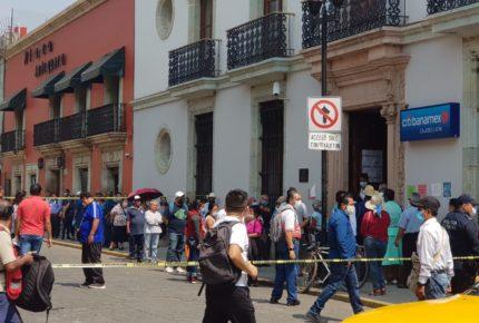 Cierran sucursales bancarias en Oaxaca para evitar contagios